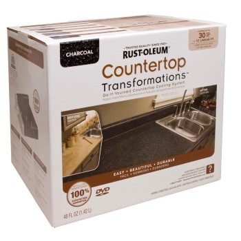 Rust-Oleum 258512 Countertop Transformations Kit, Charcoal ~ 30 Sq Ft