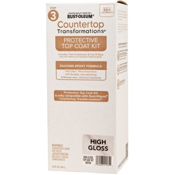 Rust-Oleum 264104 Countertop Transformations, Top Coat ~ Clear Gloss
