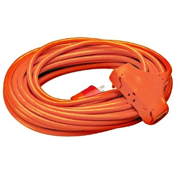 Coleman Cable 04218 In/Outdoor Extension Cord, Multi-Outlet ~ 50