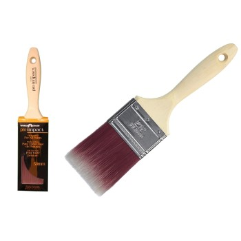 "Pro-Impact Poly Blend Varnish Brush ~ 2.5"" x 3"""