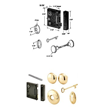 Lock Set ~ Surface Mount Case Set