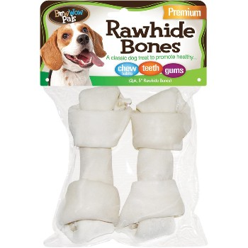 Bow Wow Paks Rawhide Bones,  Pack of 2