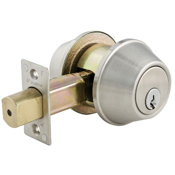 MasterLock DSC0732DKA4 Commercial Double Cylinder Deadbolt, Brushed Chrome