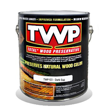 TWP/Gemini TWP103-1G TWP Total Wood Preservative,  Dark Oak ~ One Gallon