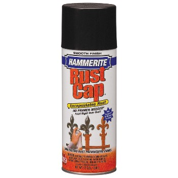 Hammerite Rust Cap, Smooth Gloss Black ~ 12oz