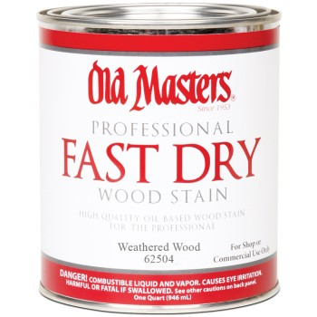 Fast Dry Interior Wood Stain, Weathered Wood ~ Quart