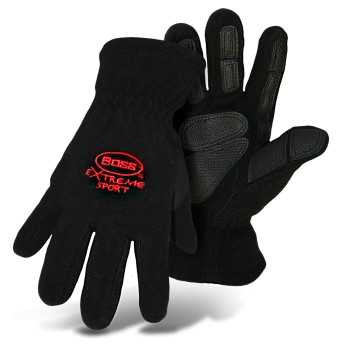 Extreme Sports Lined Arctic Fleece Gloves, Black ~ Large