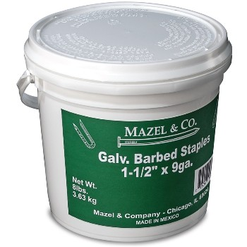 8# Pail1-1/2in. Galv Barb Staples