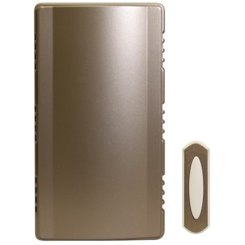HeathCo SL-7451-02  Wireless Chime Doorbell Kit,  Satin Nickel