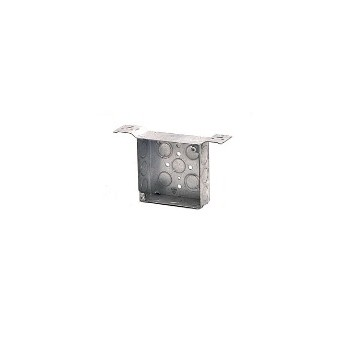 Square Box W/Bracket, 4 inch 1.5 inch Deep