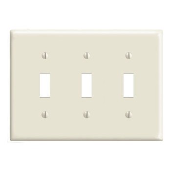 Three-Toggle Switch Plate ~ White