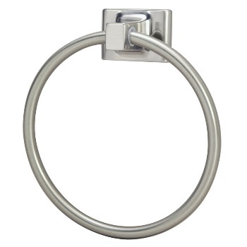 Towel Ring, Satin Nickel