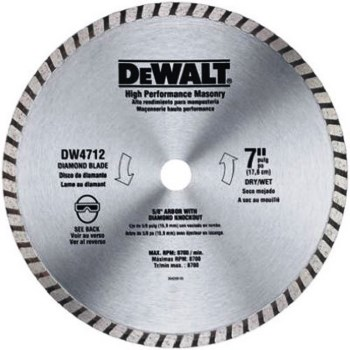 DeWalt DW4712B High Performance Masonry Diamond Blade ~ 7""