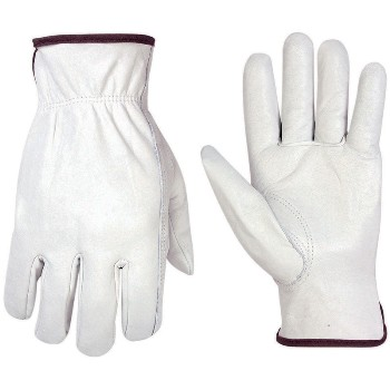 Lg Wh Cwhide Drvr Glove