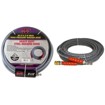 "High Pressure Washer Hose for Pressure Washers ~ 3/8"" x 50 Ft"