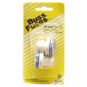 Type S Time-Delay Dual-Element Plug 15 Amp Fuse Rejection Base ~  125V