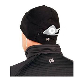 Watchcap with pocket, Black