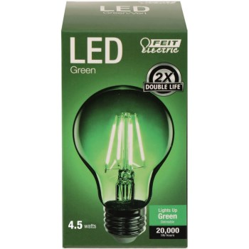 Green A-Shape Bulb