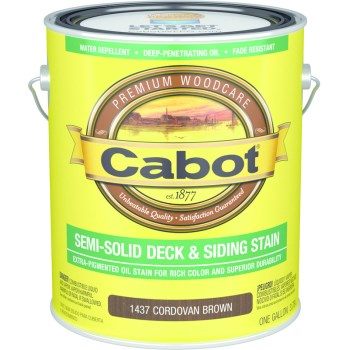 Decking & Siding Stain Cordovan Brown, Gallon