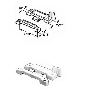 Window Sash Lock ~ Slim Line, White Finish