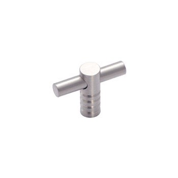 T-Knob - Contemporary Stainless Steel Finish - 2 inch