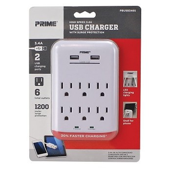 Prime Wire/Cable PBUSB346S 1200j 6surge Tap Usb