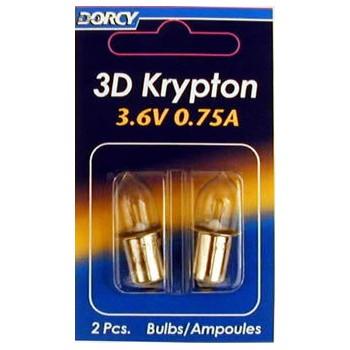 Dorcy Intl 41-1661 3d 2/Pk Krypton Bulb