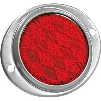 Reflex Reflector, Red Oval ~ 3 - 3/16""