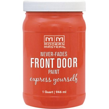 Express Yourself Front Door Satin Paint, Cheerful  ~ Quart