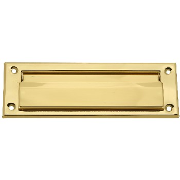 Mail Drop Slot w/Flap, Solid Brass ~ 7""