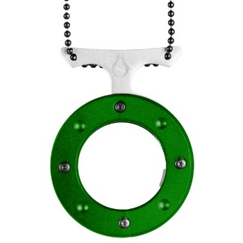 Cyclops, Green Aluminum, Plain w/ Neck Chain