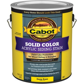 Pro VT Solid Color Acrylic Siding Stain, Deep Base ~ Gallon