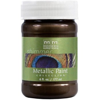 Metallic Paint, English Brown  ~ 6 Ounce