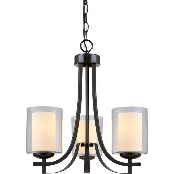 El Dorado Chandlier, 3 Light ~ Ebony Glaze