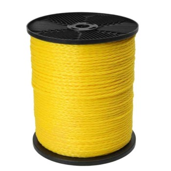 "Canada Cordage 610160-00300-11 Hollow Braided Polypropylene Rope, Yellow ~ 1/2"" X 300 Ft"