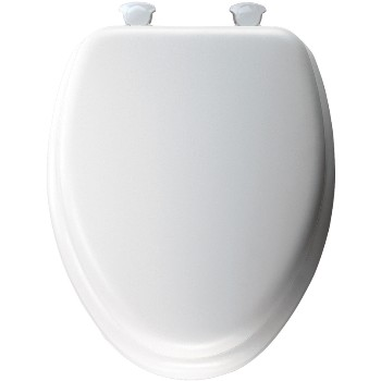 Toilet Seat - Soft and Elongated - White