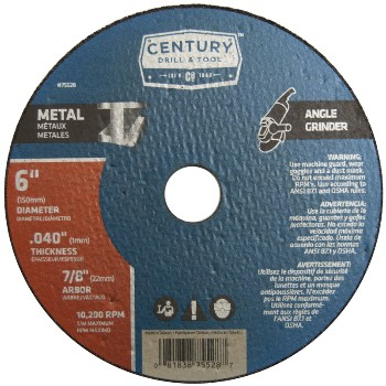 Century Drill & Tool   75528 6in. X.040 Metal Cut Wheel 75528