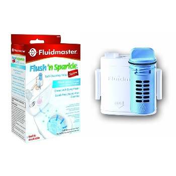 Fluidmaster 8100P8 Flush-N-Sparkle Toilet Bowl Blue Cleaner System