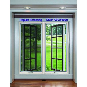 "Clear Advantage Fiberglass Screening, Charcoal ~  36"" x 100'"
