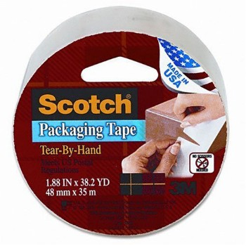 "Packaging Tape, Clear  ~ 1.88"" x 38.2 Yds"
