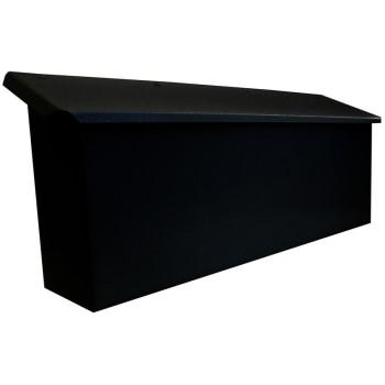Fulton 3235 Horizontal Wall Mount Mailbox ~ Black