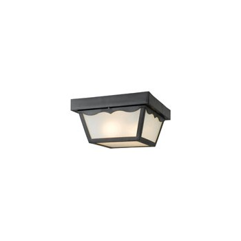 Hardware House  544916 Outdoor Ceiling Light Fixture, Black