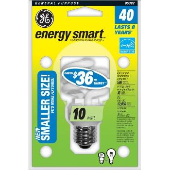 General Electric  85382 Compact Fluorescent Bulb, Smaller Size 10 Watt