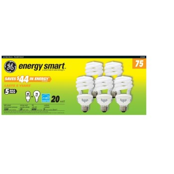 General Purpose CFL,  75watt ~  5 pack