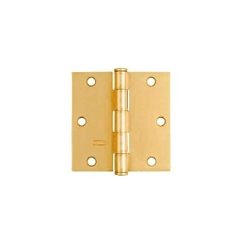 Satin Brass Door Hinge, Visual Pack 512 3 - 1/2 inches