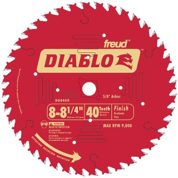Finish Blade, 40T 8-1/4 Inch