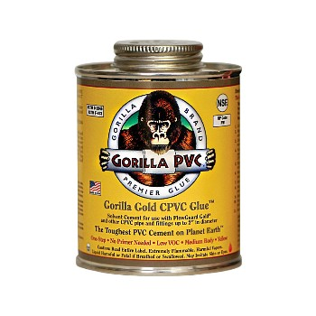Gorilla Gold CPVC Glue ~ 4oz Can