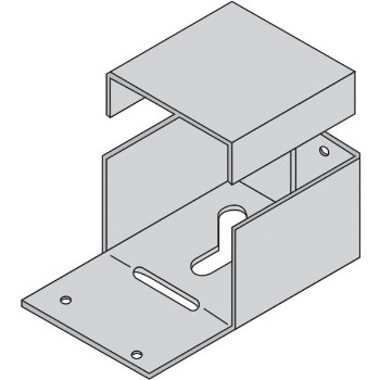 "Adjustable Bolt Down Post Anchor for 4"" x 6"" Post"