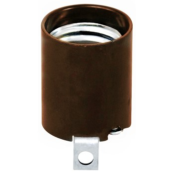 Keyless Socket,  Dark Brown