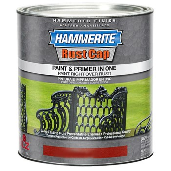 Hammered Enamel Finish ~ Brown, One Gallon